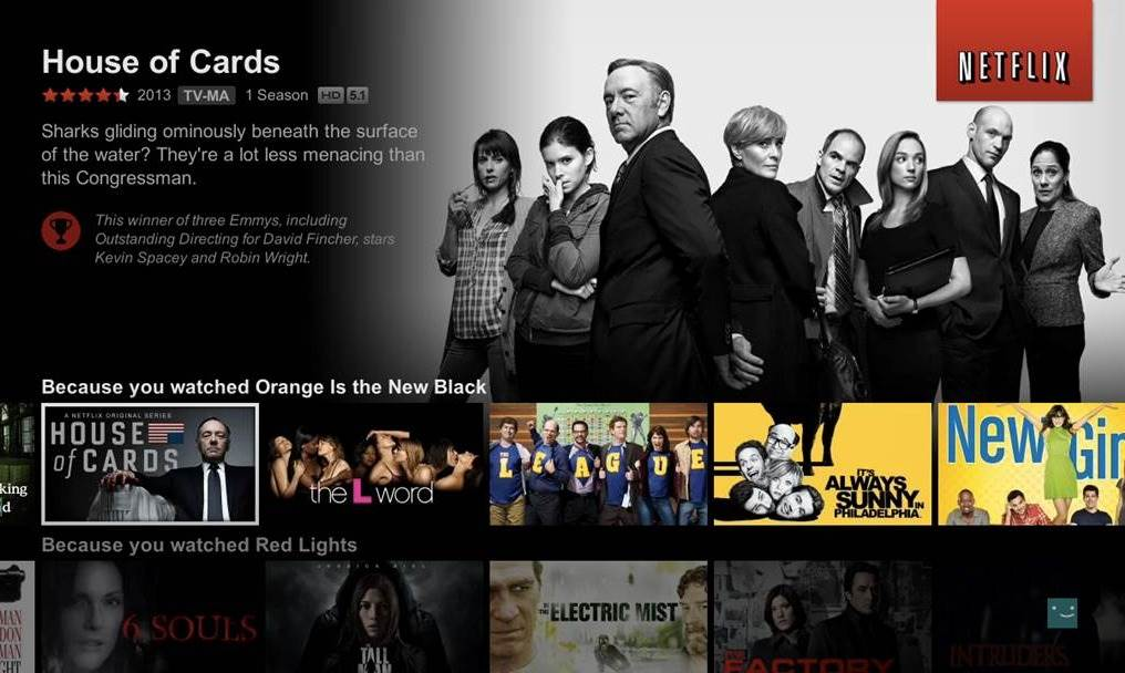 Personalización de series, películas y documentales de Netflix